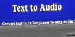 To text audio