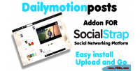 Video dailymotion socialstrap for addon