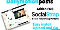 Video dailymotion socialstrap for addon