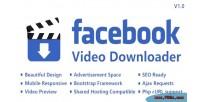 Video facebook ajax with downloader