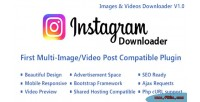 Video instagram image downloader ajax with content multi