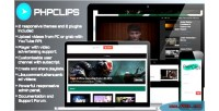 Video phpclips sharing platform