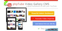 Video phptube gallery cms