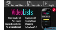 Videolists a fast creator lists video of