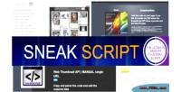 Web sneakscript script api thumbnails