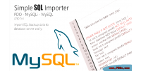 Importer sql php class