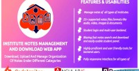 Institute notes management & application web download