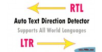 Language auto direction class php detector