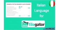 Language italian for filegator