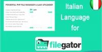 Language italian for filegator