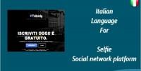 Language italian for selfie