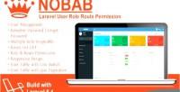 Laravel nobab user permission route role