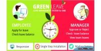 Leave green system management leave
