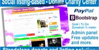 Listing social based center charity donate
