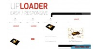 And easy uploader image responsive