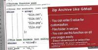 Archieve zip like gmail