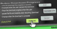 Download button progress