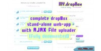 Dropbox my uploader ajax with