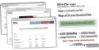 Bitdrop file hosting with link url short
