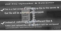 File zip uploader extractor automatic and