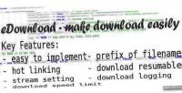 Make edownload download easily