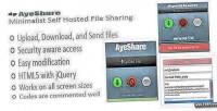 Minimalist ayeshare self sharing file hosted