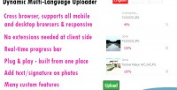 Multi dynamic uploader photo language
