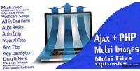 Ajax php multi images uploader files multi