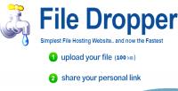 Sharing upload file filedropper platform online