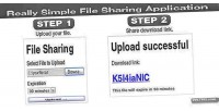 Simple really file application web sharing