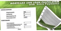 Loan mortgage calculator payments extra with
