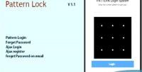 Lock pattern login php in register