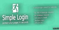 Login simple