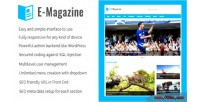 Magazine e online & magazine cms website newspaper
