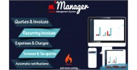 Manager m system management invoices