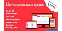 Material laravel admin crud user template