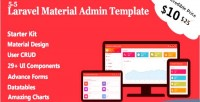 Material laravel admin crud user template