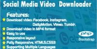 Media social video downloader instagram facebook tumblr vimeo dailymotion