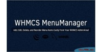 Menu whmcs manager
