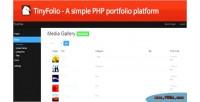 A tinyfolio porfolio php simple