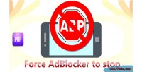 Adblocker force to stop