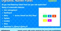 Admin dynamic panel