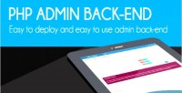 Admin php back end