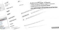 Adminpage wordpress class