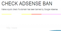 Adsense check ban