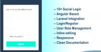 Agular laravel social login management user & agular