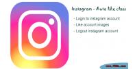 Auto instagram like class