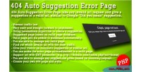 Auto suggestion error page panel admin with auto
