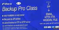 Backup files pro class