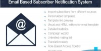 Based email system notification subscriber